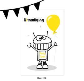 Uitnodiging Robot Robbie17 - Verjaardag | Kinderfeestje