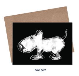 Posterkaart 20 x 30 cm- Hondje Spike
