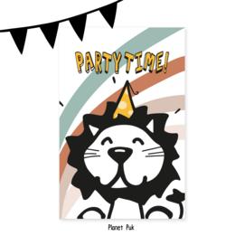 Uitnodiging Leeuw - Verjaardag | Kinderfeestje