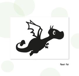 Sticker - Vliegend draakje
