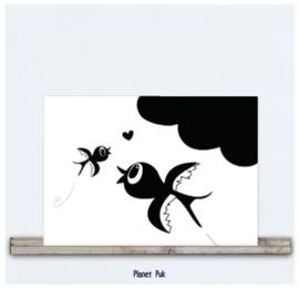 Posterkaart - Zwaluwtjes