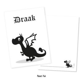 A4 Poster/ kaart Draak