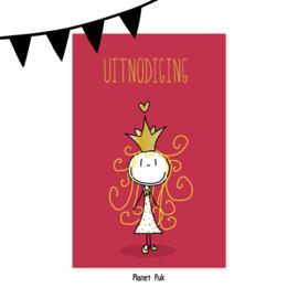 Uitnodiging Prinses - Verjaardag | Kinderfeestje