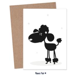 A4 Poster/ kaart - poedeltje Diva