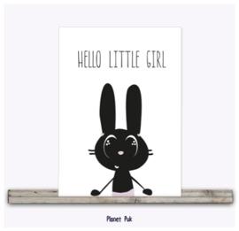 Posterkaart - Hello little girl