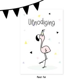 Uitnodiging Coco Flamingo - Verjaardag | Kinderfeestje