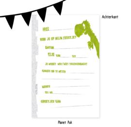 Uitnodiging Tito T-Rex - Verjaardag   Kinderfeestje