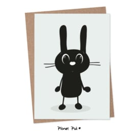 A5 kaart - Bunchy konijn