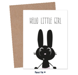 Posterkaart - Hello little girl