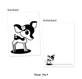 A5 kaart - Hertje Feline