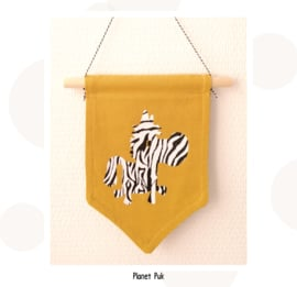 Zebra  vaantje okergeel - Safarithema