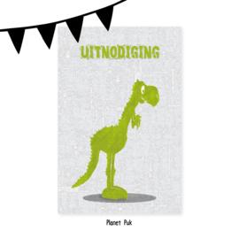 Uitnodiging Tito T-Rex - Verjaardag | Kinderfeestje
