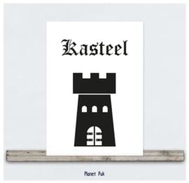 A4 Posterkaart - Kasteel