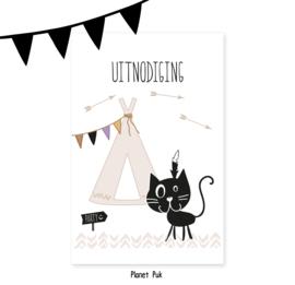 Uitnodiging Winnetoe - Verjaardag | Kinderfeestje