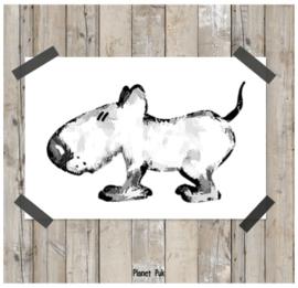 Posterkaart 20 x 30 cm - Hondje Spike