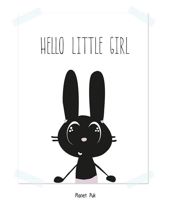 Poster, Hello little girl