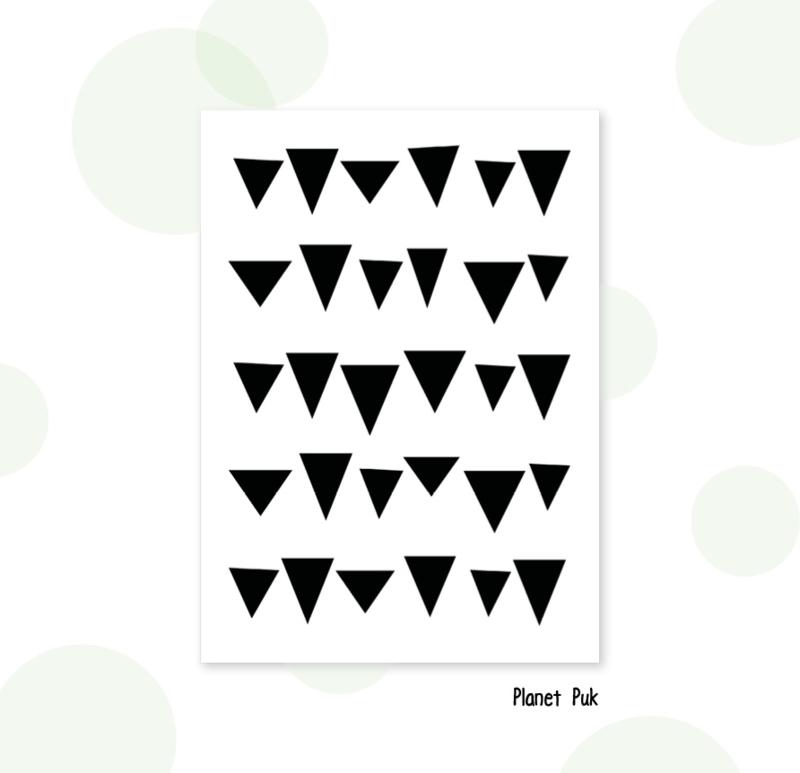 Stickerset - Driehoekjes