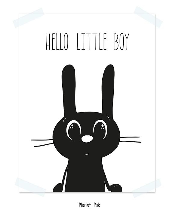 Poster, Hello little boy