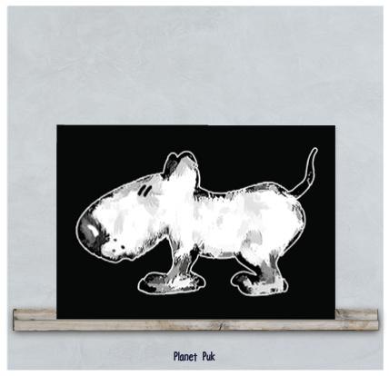 Posterkaart - Hondje Spike