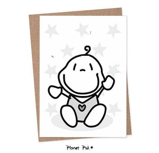 A5 kaart - baby boy