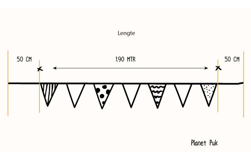 Vlaggenlijn Boefje (3)  2.90 mtr.