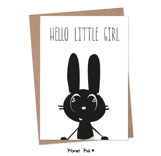 A5 Kaart - Hello little girl