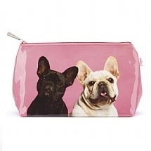 Mr & Mrs Pink Frenchies Wash bag - grote toilettas 31 x 18 x 10 cm