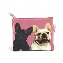 Mr & Mrs Pink Frenchies Coin wallet 10 x 12 cm