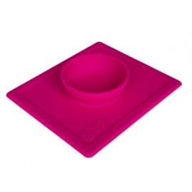 2 in 1 anti slip voerbak met placemet Hot Pink  S 250 ml