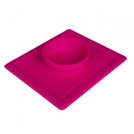 2 in 1 anti slip voerbak met placemet Hot Pink  S 250 ml