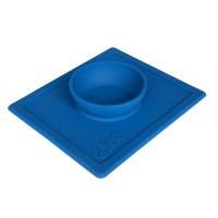 2 in 1 anti slip voerbak met placemet Ocean Blue S 250 ml