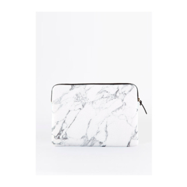 Macbook sleeve 'White Marble'