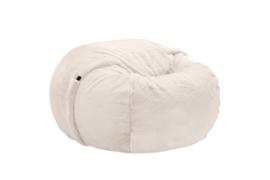 beanbag faux fur beige M