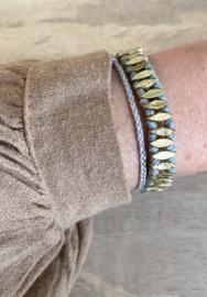 bracelet leaf aqua