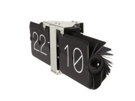 flip clock no case black