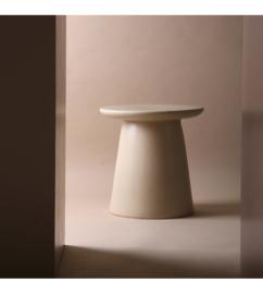 earthenware side table