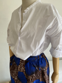 wax skirt cobalt blue