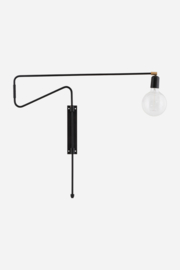 wall lamp swing black 70cm