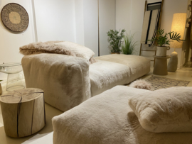 modular sofa faux fur