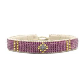 friendship bracelet one flower pink