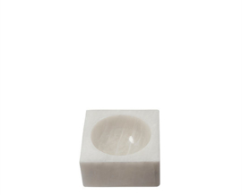 white marble block bowl