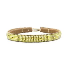 single wrap bracelet the dots yellow