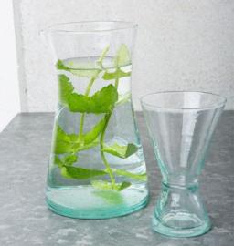 recycled handmade wine glass large