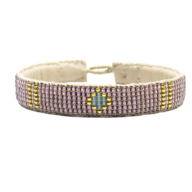 friendship bracelet one flower lavender
