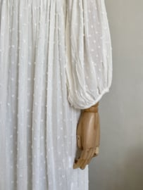 smock dress angel white