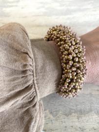 karma bracelet taupe