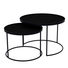 tray table set round low