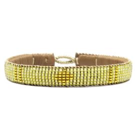 friendship bracelet one flower yellow