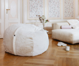 beanbag faux fur grey M
