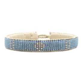 friendship bracelet one flower blue
